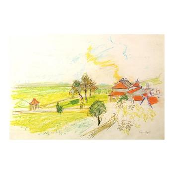 "Wayne Ensrud ""Morey-St-Denis, Burgundy"" Pastel Original Artwork; Hand Signed; COA"