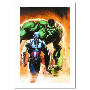 "Marvel Comics, ""Ultimate Origins #5"" Limited Edition Canvas by Gabriele Dell'Otto; COA"