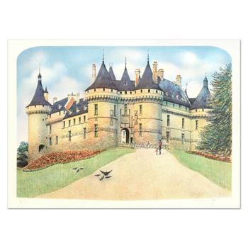 """Rolf Rafflewski, """"Chateau de Chaumont"""" Limited Edition Lithograph, Numbered and Hand Signed."""