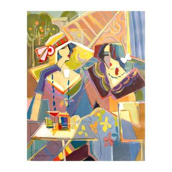 """Isaac Maimon, """"New Scheme of Color"""" Original Acrylic Painting, Hand Signed with Certificate of Authenticity. List $6,000"""