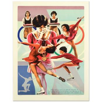 """William Nelson, """"Dorothy Hamill"""" Limited Edition Lithograph, Numbered and Hand Signed by the Artist."""