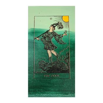 """Steve Kaufman (1960-2010), """"Tarot, The Fool"""" Hand Signed and Numbered Limited Edition Silkscreen on Canvas with LOA."""