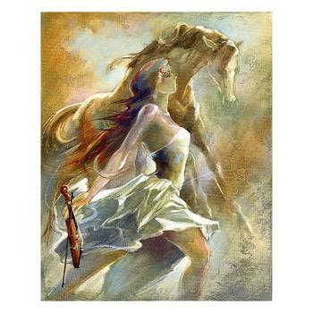 "Lena Sotskova, ""Free Spirit 2"" Artist Embellished Limited Edition Giclee on Canvas with COA."