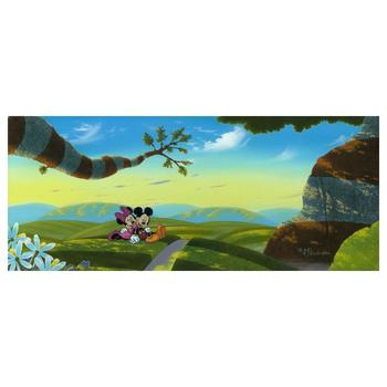 """Michael Provenza """"Lovin' a New World """" Disney Limited Edition Hand Embellished Giclee on Canvas; Hand Signed; COA"""