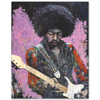 """Stephen Fishwick, """"Jimi"""" LIMITED ED Giclee on Canvas, Numbered and Signed."""