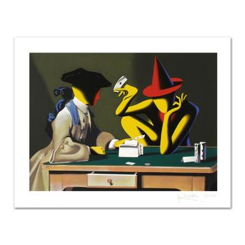 """Mark Kostabi, """"Chance Encounter"""" Limited Edition Serigraph, Numbered and Hand Signed with Certificate."""