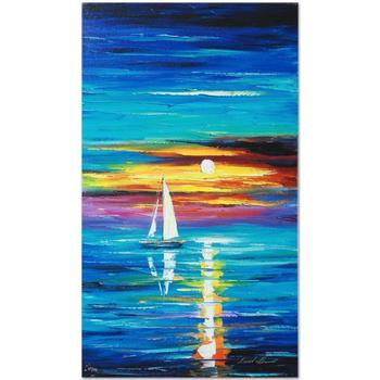 """Leonid Afremov (1955-2019) """"Reflection"""" Limited Edition Giclee on Gallery Wrapped Canvas, Numbered and Signed."""