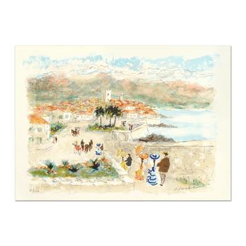 "Urbain Huchet, ""Seaside"" Limited Edition Lithograph, Numbered and Hand Signed."
