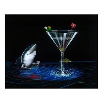 """Michael Godard """"Card Shark"""" Limited Edition Giclee on Canvas, Numbered and Signed with COA. Gallery Wrapped."""