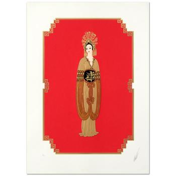 """Erte (1892-1990), """"Plum Blossom"""" Limited Edition Serigraph, Numbered and Hand Signed with Certificate. (Disclaimer)"""