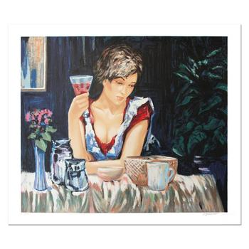 """Sergey Ignatenko, """"Thinking of You """" Hand Signed Limited Edition Serigraph with Letter of Authenticity."""
