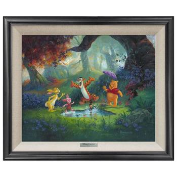 """""""Puddle Jumping"""" Framed Limited Edition Canvas by Michael Humphries from the Disney Silver Series; with COA"""