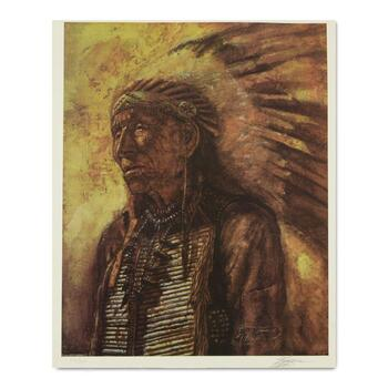 Michael R. Whipple, Limited Edition Lithograph, Numbered Hand Signed with Letter of Authenticity