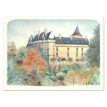 """Rolf Rafflewski, """"Chateau"""" - Limited Edition Lithograph, Numbered and Hand Signed."""