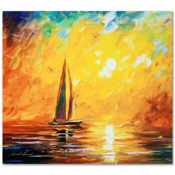 """Leonid Afremov (1955-2019) """"Tuscan Sun"""" Limited Edition Giclee on Gallery Wrapped Canvas, Numbered and Signed."""