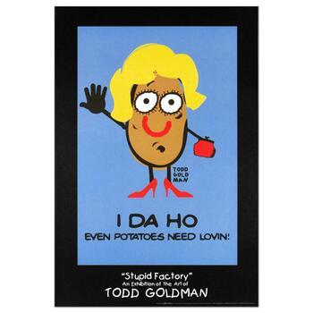"Todd Goldman, ""I-DA-HO"" Collectible Lithograph (24"" x 36"")."