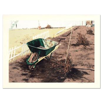 "William Nelson, ""The Wheelbarrow"" Limited Edition Lithograph, Numbered and Hand Signed."