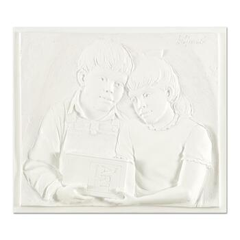 "Bill Mack, ""Sharing"" Limited Edition Monotype Relief Sculpture from an AP Edition, Cast Signed with Letter of Authenticity."