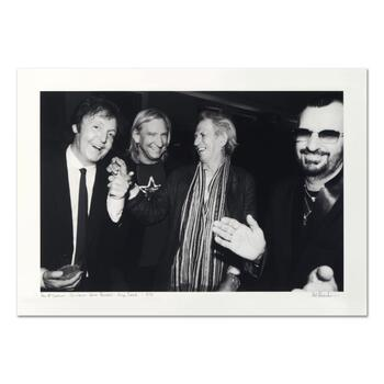 "Rob Shanahan, ""Paul McCartney, Joe Walsh, Keith Richards & Ringo Starr"" Hand Signed Limited Edition Giclee with COA."