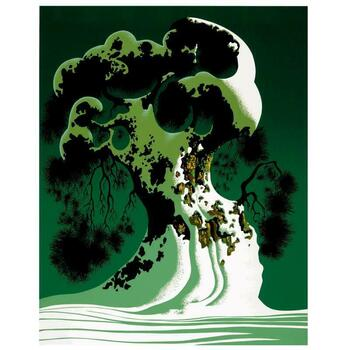 "Eyvind Earle (1916-2000), ""Snow Covered Bonsai"" Limited Edition Serigraph on Paper; Numbered & Hand-Signed; COA."