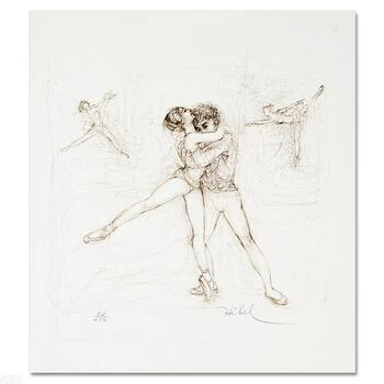 "Edna Hibel, ""Pas de Deux"" Limited Edition Lithograph, Numbered & Hand Signed with Certificate."