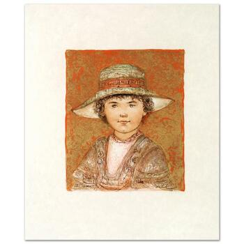 "Edna Hibel (1917-2014), ""Jill Ann"" Limited Edition Lithograph, Numbered and Hand Signed with Certificate."