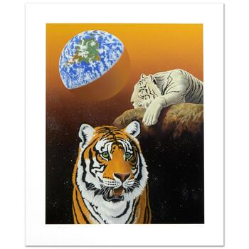 "William Schimmel, ""Our Home Too III (Tigers)"" Ltd Ed Serigraph, Numbered and Hand Signed with Certificate."