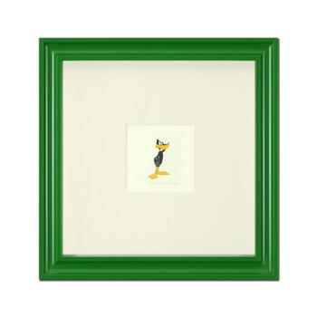 """""""Daffy Duck (Looking to the Side)"""" Framed Limited Edition Etching with Hand-Tinted Color and Numbered."""
