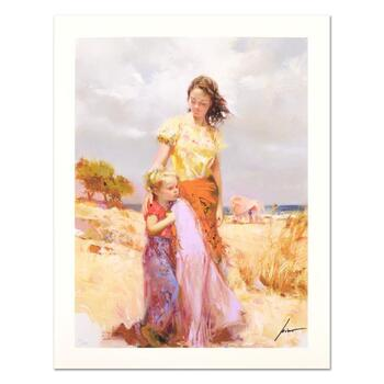 """Pino (1939-2010) """"Family Retreat"""" Limited Edition Giclee. Numbered and Hand Signed; Certificate of Authenticity."""