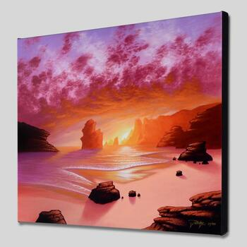"""Jon Rattenbury, """"Dream Sea"""" Limited Edition Giclee on Gallery Wrapped Canvas, Numbered and Hand Signed w/Certificate."""