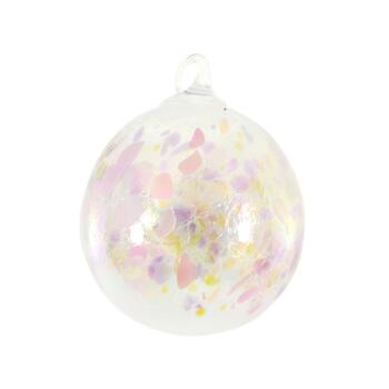 "Glass Eye Studios, ""Ornament (Pink Champagne)"" Hand Blown Glass  Sculpture (Second)."