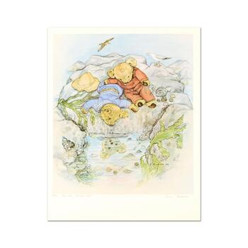 """Susan Anderson, """"The Rock Pool"""" Limited Edition Lithograph, Numbered and Hand Signed with Letter of Authenticity."""