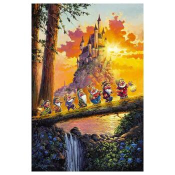 """Rodel Gonzalez """"Castle on the Horizon"""" Disney Limited Edition Hand Embellished Giclee on Canvas; Hand Signed; COA"""