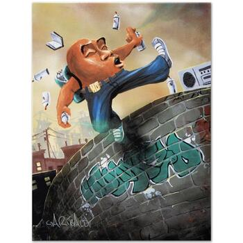 """David Garibaldi, """"Humpty Dumpty"""" LIMITED EDITION Giclee on Canvas, CC Numbered and Signed."""