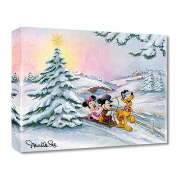 """Michelle St Laurent, """"Winter Sleigh Ride"""" Limited Edition Canvas from the Disney Fine Art Treasures collection; COA."""