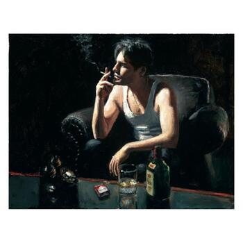 "Fabian Perez ""Black Phone V"" Hand Embellished Limited Edition Canvas; Hand Signed, with COA."
