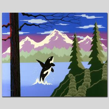 "Larissa Holt, ""Orca"" Ltd Ed Giclee on Gallery Wrapped Canvas, Numbered and Signed."