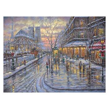 "Robert Finale, ""Christmas In Paris"" Hand Signed, Artist Embellished AP Limited Edition on Canvas with COA."