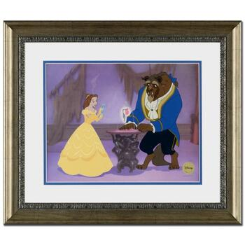 "Disney, ""Reflection of Love"" Framed Ltd Ed Sericel, with Disney Logo and Certificate of Authenticity."