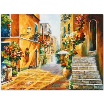 "Leonid Afremov (1955-2019) ""The Sun of Sicily"" Limited Edition Giclee on Gallery Wrapped Canvas, Numbered and Signed."