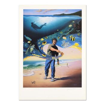 """Another Day At the Office"" Limited Edition Lithograph, Numbered and Hand Signed by Wyland and Jim Warren with Certificate."