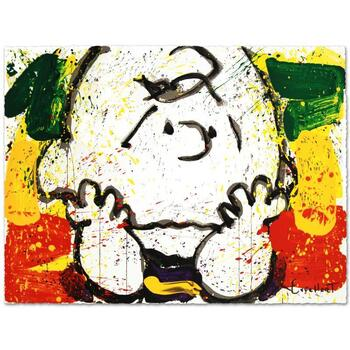"""Tom Everhart, """"Call Waiting"""" Ltd Ed Hand Pulled Original Lithograph Numbered and Hand Signed with Cert."""
