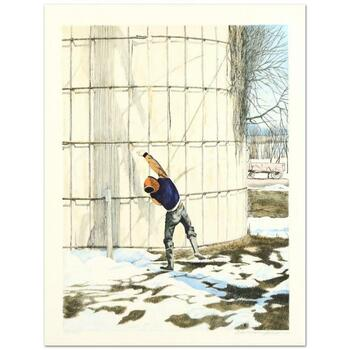 """William Nelson, """"The Snowball Thrower"""" Limited Edition Lithograph, Numbered and Hand Signed by the Artist."""