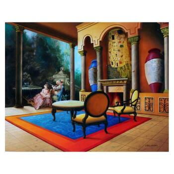 """Orlando Quevedo, """"The Kiss"""" Limited Edition Giclee on Canvas; Numbered and Hand Signed"""