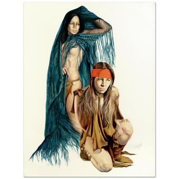 Popo & Ruby Lee - Limited Edition Serigraph, Numbered and Hand Signed by the Artist.