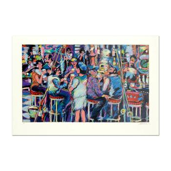 "James Talmadge, ""Bar at the End of the Pier"" Limited Edition Serigraph, AP Numbered and Hand Signed with Letter of Authenticity"