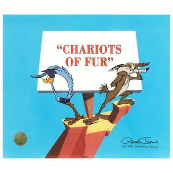 "Chuck Jones (1912-2002), ""Chariots of Fur"" Ltd Ed Animation Cel, Hand Painted, No. & Hand Signed w/Cert."
