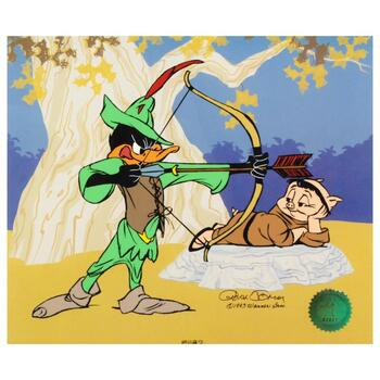 Chuck Jones (1912-2002). Ltd Ed. Animation Cel. No. & Hand Signed by Jones with Hand Painted Color and Cert.