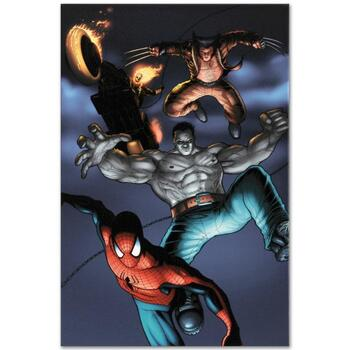 """Marvel Comics """"Fear Itself: Fearsome Four #2"""" Numbered Limited Edition Canvas by Simon Bisley; Includes COA."""