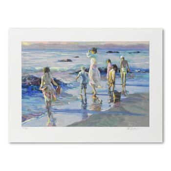 "Don Hatfield, ""Frolicking at the Seashore"" Limited Edition Serigraph, AP Numbered 59/60 and Hand Signed with LOA"